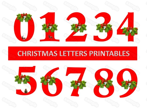 It is an image of Christmas Numbers Printable regarding holiday