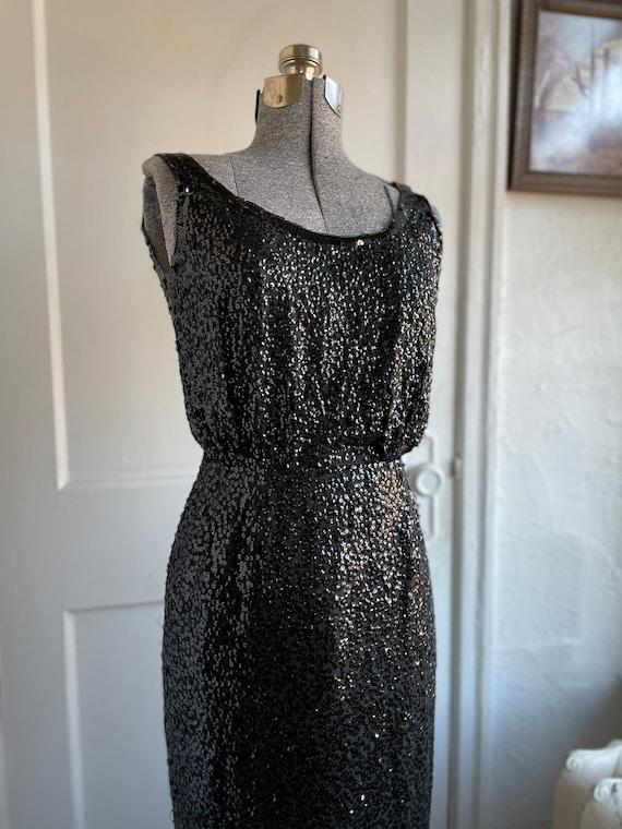 1960s Sequin floor length dress