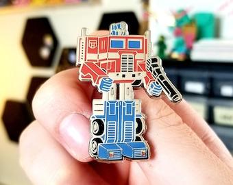 Optimus Prime G1 Toy Enamel Pin Transformers
