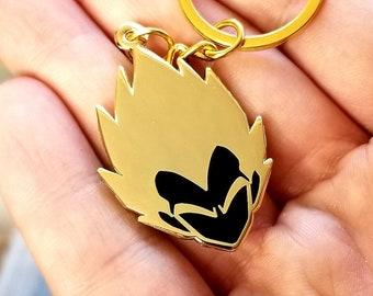 Prince-V Double-sided Keychain / Necklace - Super Saiyan Vegeta Dragon Ball Z Inspired