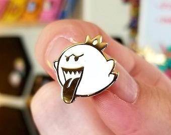 King Boo - Mario Kart Hard Enamel Pin Glow in the Dark