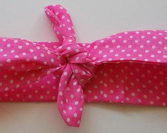 "headband tie 12-18 months pink ""confetti"""