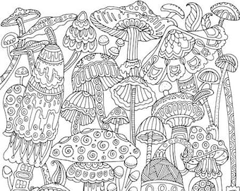 Adult coloring pages | Etsy