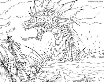 A Monster in Paris Printable Coloring Pages 3 | 270x340