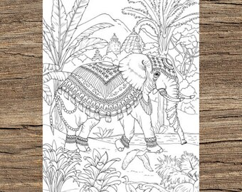 Wild Animal Coloring Pages | Baby Elephant Coloring Page and Kids ... | 270x340