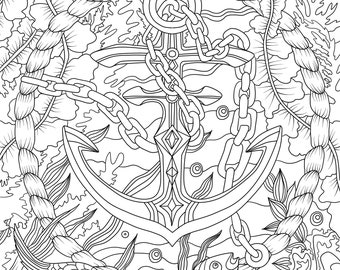 Beach House Printable Adult Coloring