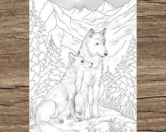 Stylish Wolf coloring page | Free Printable Coloring Pages | 270x340