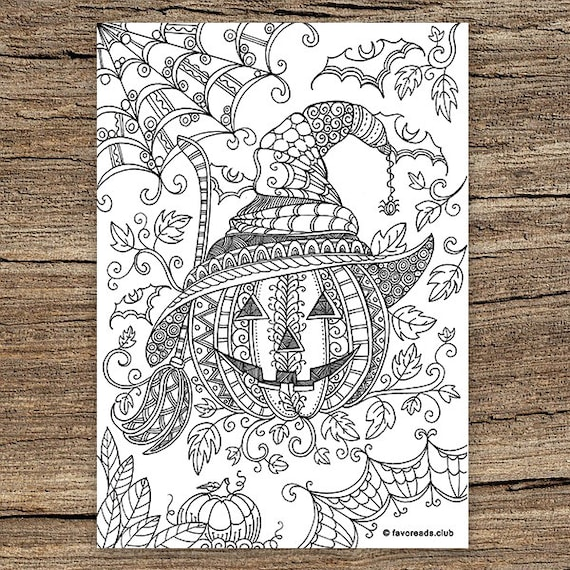 Pumpkin  Printable Adult Coloring Page from Favoreads