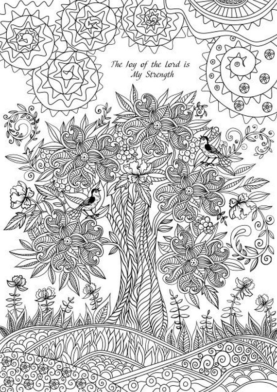 The Joy Of The Lord Printable Adult Coloring Page From Favoreads Coloring Book Pages For Adults Coloring Sheets Coloring Designs