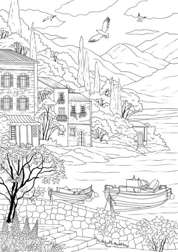 Sea Coast - Printable Adult Coloring Page from Favoreads (Coloring book  pages for adults and kids, Coloring sheets, Coloring designs)