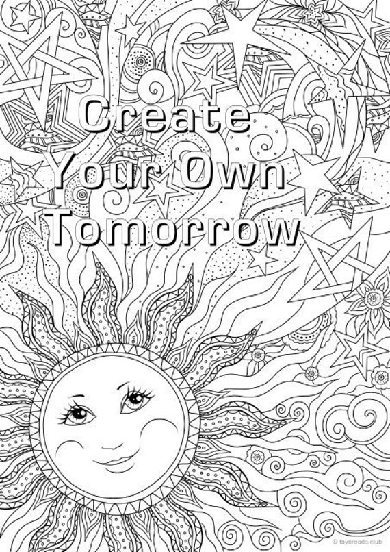 - Create Your Own Tomorrow Printable Adult Coloring Page From Etsy