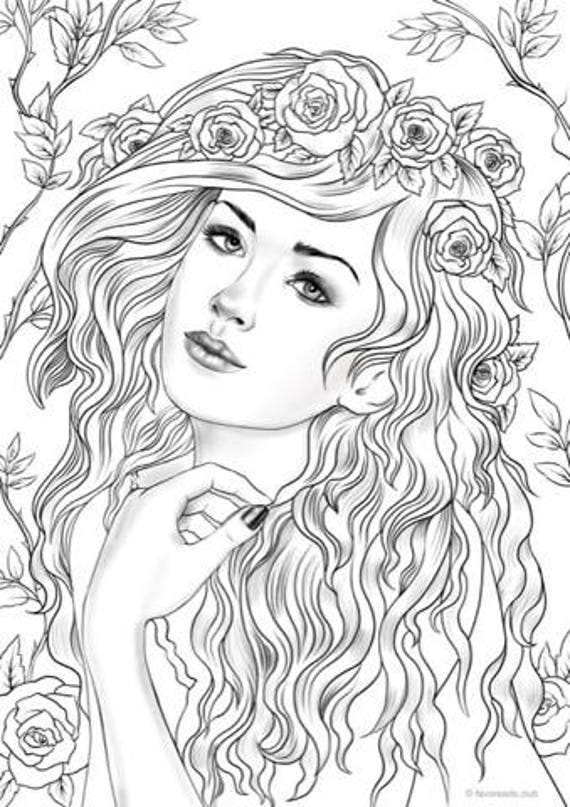 Nymph Printable Adult Coloring Page from Favoreads ...