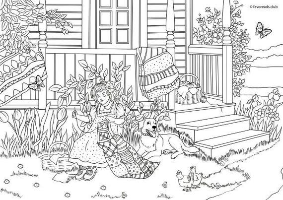 Spring Crafts Printable Adult Coloring Page From Favoreads Coloring Book Pages For Adults And Kids Coloring Sheets Coloring Designs