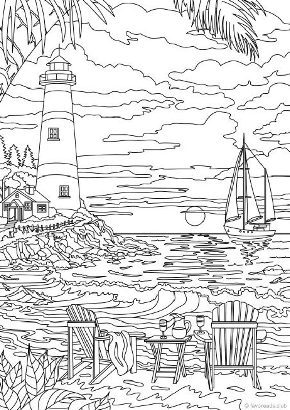 Big Sable Point Lighthouse, Ludington, Michigan coloring page ... | 806x570