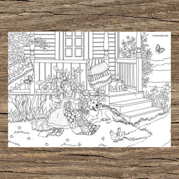 Spring Crafts  Printable Adult Coloring Page from Favoreads