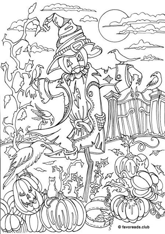 Cute Scarecrow Coloring Pages - GetColoringPages.com   806x570