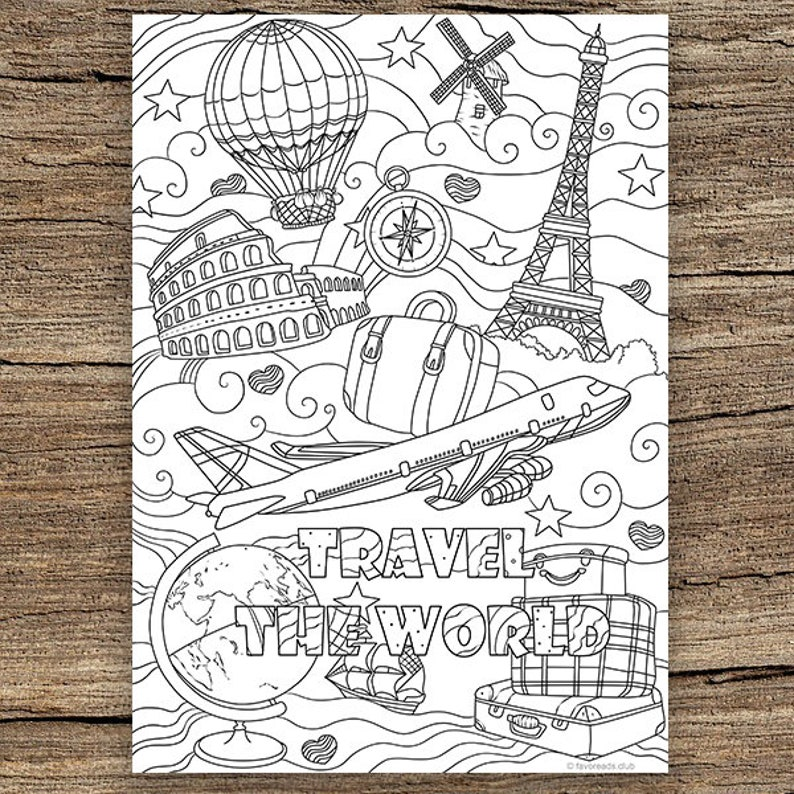 Fantastic Traveling Printable Adult Coloring Page From Favoreads Coloring Book Pages For Adults And Kids Coloring Sheets Colouring Designs Download Free Architecture Designs Terchretrmadebymaigaardcom