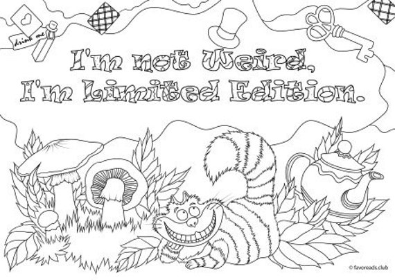 I Am Not Weird - Printable Adult Coloring Page from Favoreads (Coloring  book pages for adults and kids, Coloring sheets, Coloring designs)