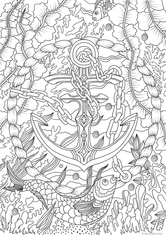 printable anchor coloring pages - photo#31