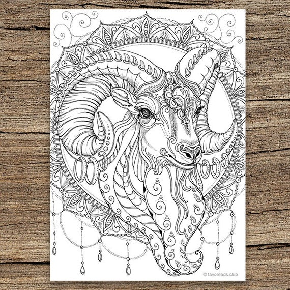 Free Printable Goat Coloring Pages For Kids | 570x570