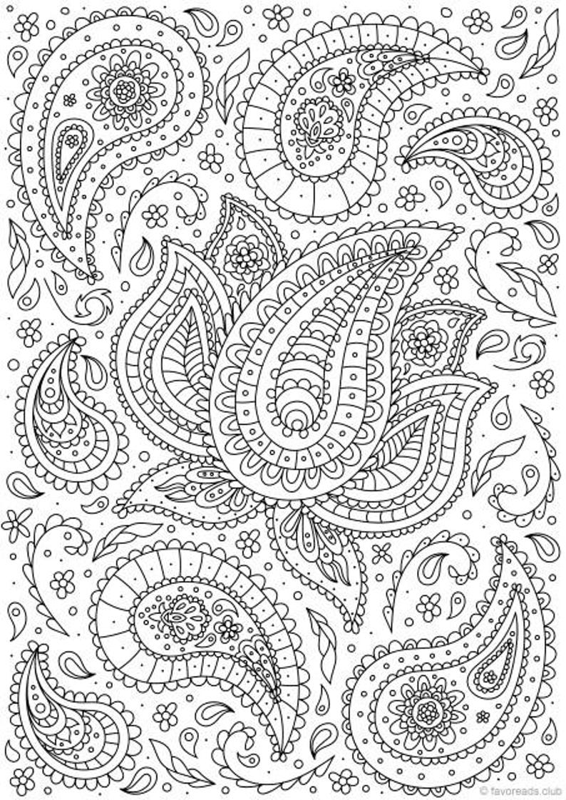 photo relating to Printable Adult Coloring Pages Paisley known as Paisley Flower - Printable Grownup Coloring Web page against Favoreads (Coloring e book web pages for older people and small children, Coloring sheets, Coloring models)