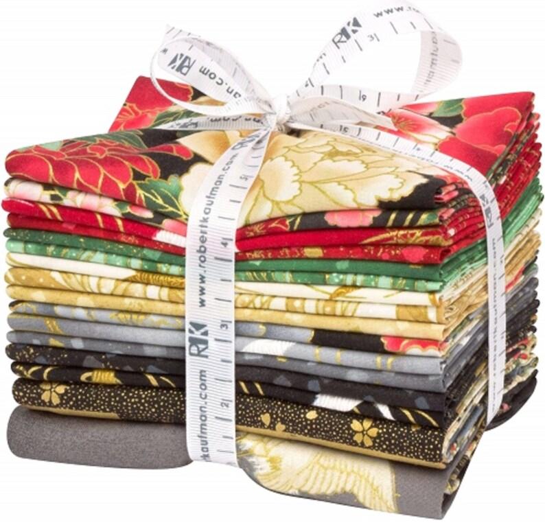 Imperial Collection Onyx Fat Quarter Bundle 16 pcs by Kaufman