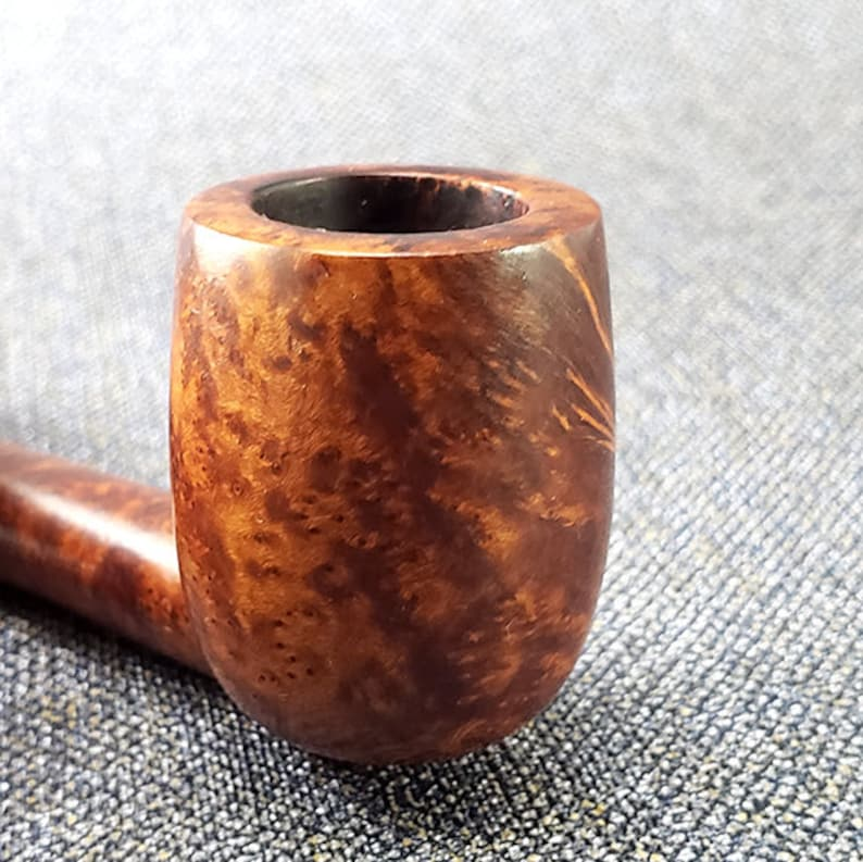 by Peterson Republic Era Irish Vintage Estate Smooth Briar Small Billiard wSaddle Stem Smoking Pipe : Lightly Smoked SHAMROCK 21S