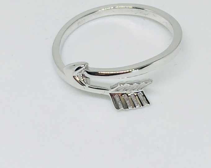 Double Feather Ring Sterling Silver