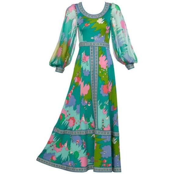 Bessi Multicolored Silk Jersey Chiffon Sleeves Max