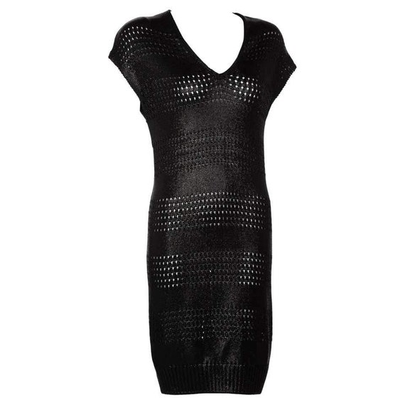 Balenciaga Paris Black Knit Sweater Dress