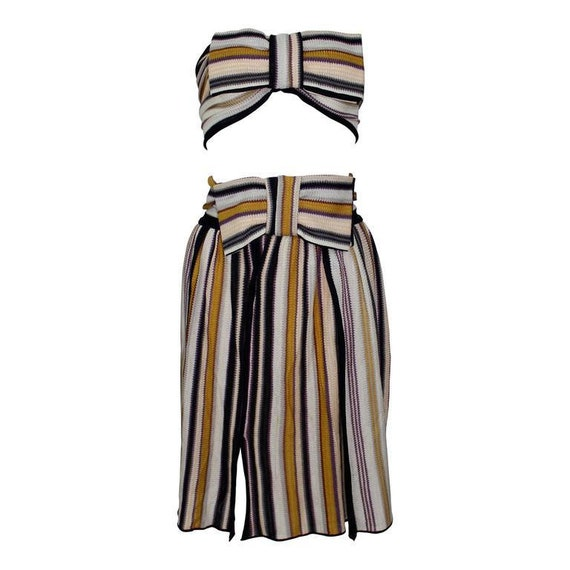 Missoni Bow Bandeau Top and matching Skirt Ensembl