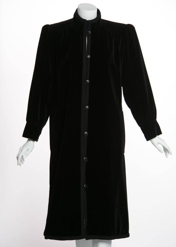 1970s Yves Saint Laurent Black Velvet Passementeri