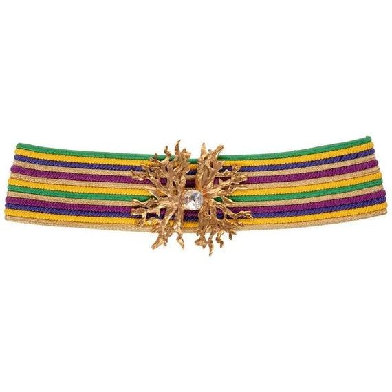 Yves Saint Laurent Vintage YSL Multicolored Passem