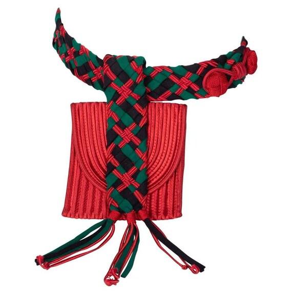 Yves Saint Laurent Red Green Passementerie Tassel
