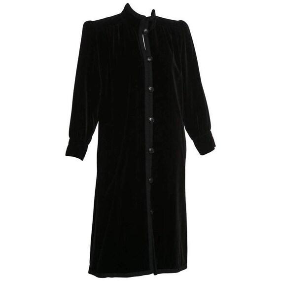 1970s Yves Saint Laurent YSL Black Velvet Passemen
