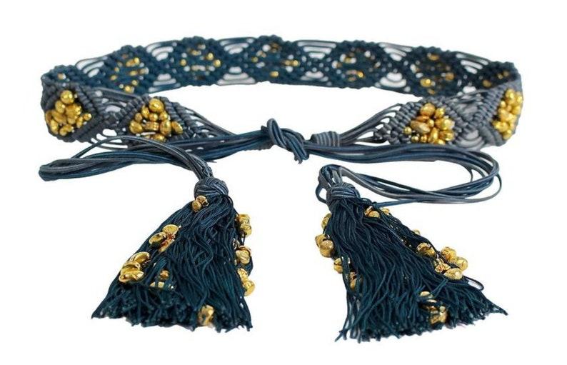 2ac3a8c65d55 Yves Saint Laurent YSL Vintage Passementerie Gold Nugget Beads