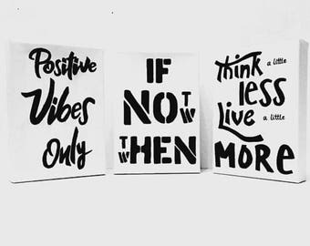 Handwritten Quote Canvas Motivational Inspirational Quotes Personalised IF Not Now Then When
