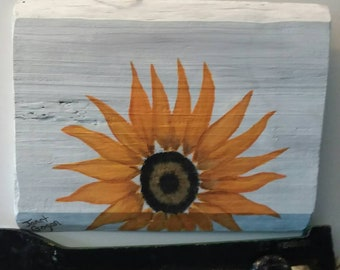sunflower acrylic painting board wall art