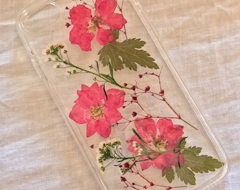 Real dried flower phone case