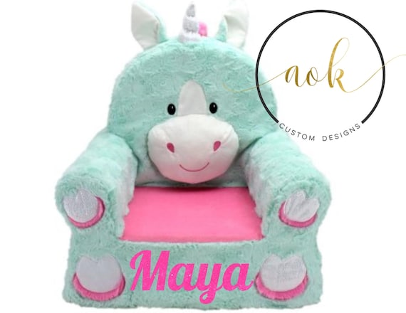 Unicorn Chair Personalized Kids Nursery