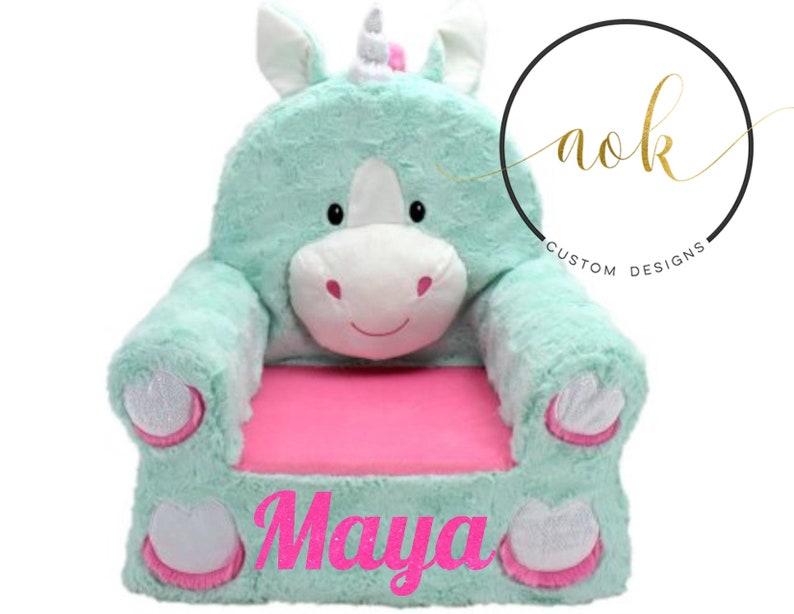 Unicorn Chair Personalized Kids Nursery