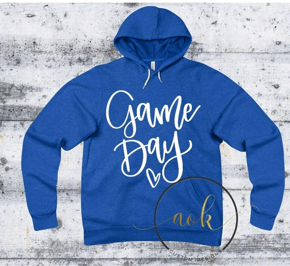 Volleyball Sweatshirt Basketball  Sweatshirt Game Day Sweatshirt Spirit Wear Game Day Hoodie Football Sweatshirt Football Hoodie Blue