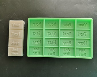 Custom Made Silicone Moulds For Wax Melts Soaps Candles Snap-bar Personalised Moulds