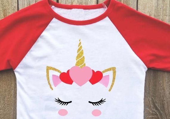 Unicorn Valentines Day Shirt Etsy
