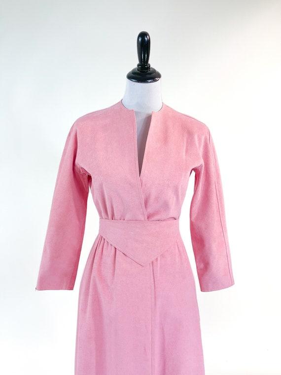 Rare! Vintage 1970s Halston Pink Ultrasuede Suede… - image 6