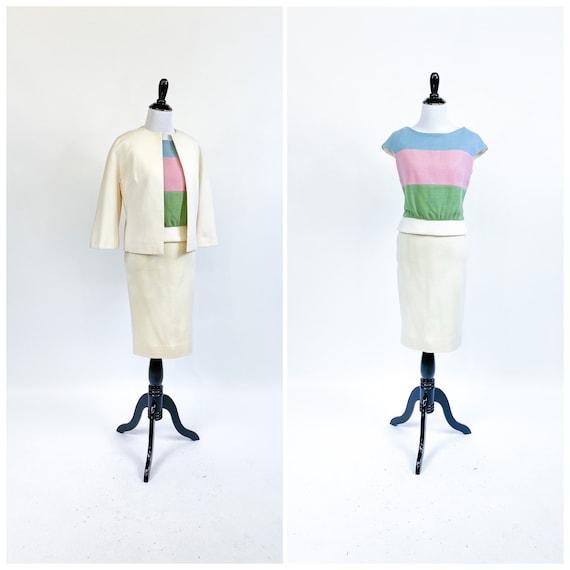 Color Block! Vintage 1960s 60s Lilli Ann Pastel Wo