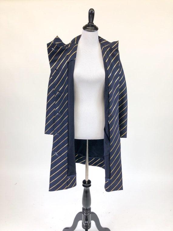 Chic! Vintage 1960s Navy & Gold Stripe Wool Princ… - image 8