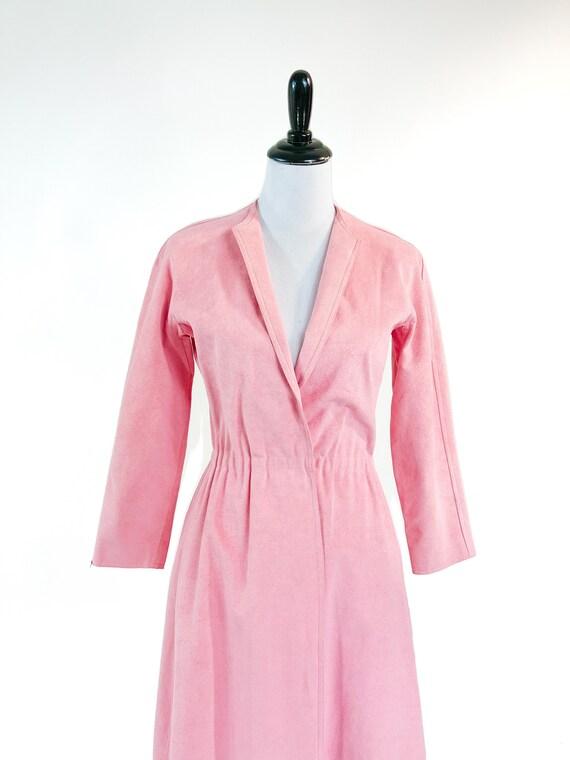 Rare! Vintage 1970s Halston Pink Ultrasuede Suede… - image 7