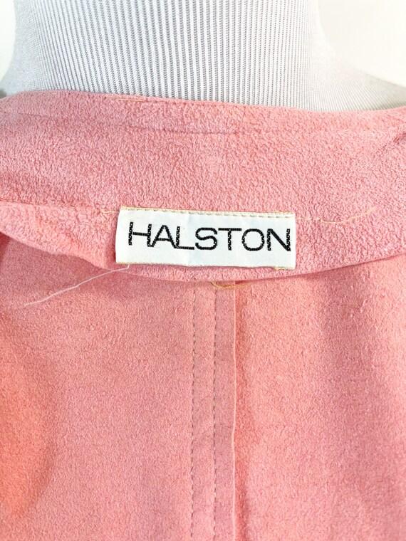 Rare! Vintage 1970s Halston Pink Ultrasuede Suede… - image 9