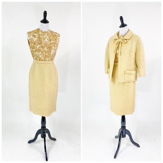 Rare! Vintage 1950s 60s Christian Dior Skirt Suit